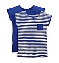 Pack Of 2 Boyfriend T-Shirts - Stripe