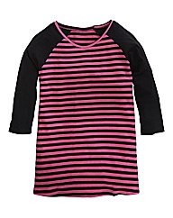 Stripe Raglan Sleeve Top