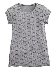 Zebra Print Boyfriend T-Shirt