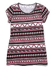 Aztec Print Boyfriend T-Shirt
