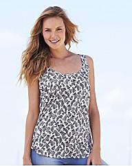 Zebra Print Woven Vest