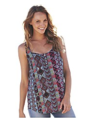 Aztec Print Sleeveless Blouse