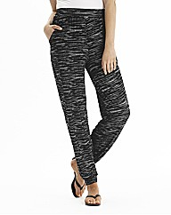Marled Effect Jersey Tapered Trousers