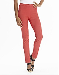 Coral Slim Leg Jeggings Length 28in