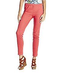 Coral Slim Leg Jeggings Length 31in