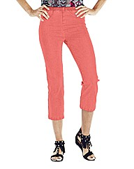 Coral Crop Jeggings