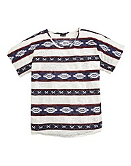 Aztec Stripe Burn Out T-Shirt
