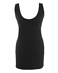 Long Neppy Jersey Vest