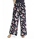 Short Floral Print Wide Leg Trousers