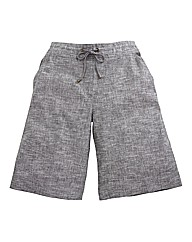 Slub Linen Mix Shorts