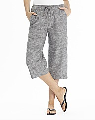 Crop Linen Mix Trousers