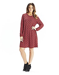 Tall Tile Print Jersey Swing Dress