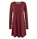 Tall Tile Print Jersey Swing Dress