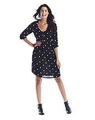 Tall Dog Print Skater Dress