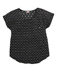 Harliquin Print Short Sleeve Blouse