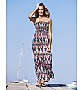Petite Ikat Print Maxi Dress