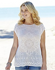 Long Embroidered Cotton Top