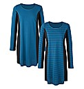Stripe Pack of 2 Panelled Tunics