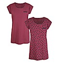 Heart Print Pack of 2 T-Shirts