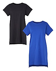 Pack of 2 Split Side T-Shirts