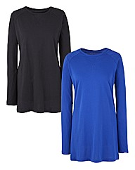Pack of 2 Raglan Sleeve Jersey Tops