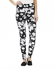 Regular Floral Print High Waist Leggings