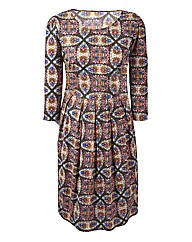 Petite Kaleidoscope Print Day Dress