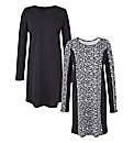 Animal Print Pack of 2 Panelled Tunics