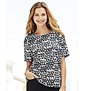 Geo Print Short Sleeve Top