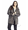 Animal Print Fur Hooded Parka