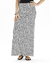 Spot Maxi Skirt With Draw Cord