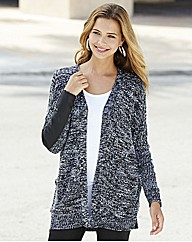 PU Trim Cardigan