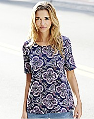 Paisley Print Short Sleeve Top