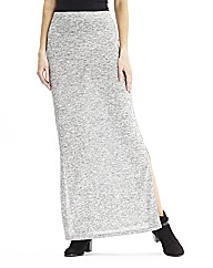 Jersey Maxi Skirt with Side Splits