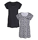 Animal Print Pack of 2 T-Shirts