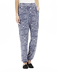 Paisley Print Jersey Tapered Trousers