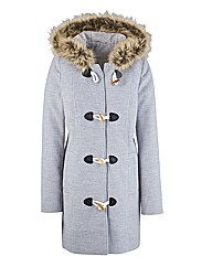 Fur Hooded Duffle Coat