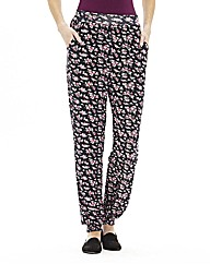 Ditsy Print Jersey Tapered Trousers