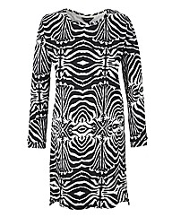 Zebra Print Sweat Dress