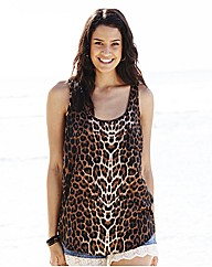 Sleeveless Blouse Leopard Print