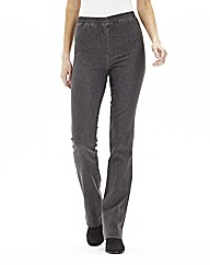 Pull On Bootcut Jeggings - Short