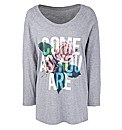Come As You Are Print Raglan T-Shirt