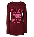 Novelty Follow Your Heart Jumper