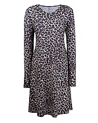 Petite Animal Print Jersey Swing Dress
