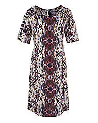 Aztec Print A-Line Dress