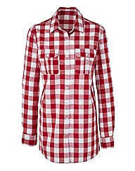 Gingham Print Boyfriend Shirt