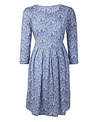Folk Print Day Dress
