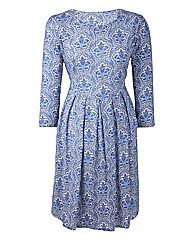 Folk Print Day Dress