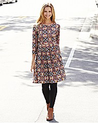 Petite Kaleidoscope Print Day Dress