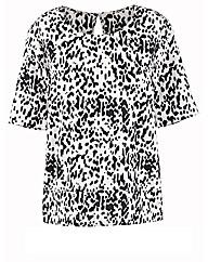 Animal Print Short Sleeve Top